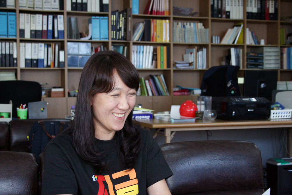 8월 23일 충남 서산에 위치한 민주노총 세종충남본부 서부회 사무실에서 만난 조지영 집행위원장 [사진 출처] 박유미