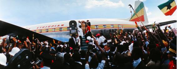 1966년 자메이카를 방문한 하일레 셀라시에 http://imanblak.com/content/commemorating-50th-year-visit-emperor-haile-selassie-jahmekya