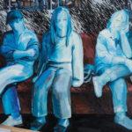 차갑고 단단한 셋, oil on canvas, 181.8×227.3cm, 2018