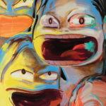 크게 웃는 여자들, oil on canvas, 181.8×227.3cm, 2018