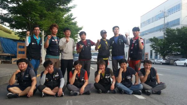 아사히비정규직지회 조합원들 [출처: 연정]
