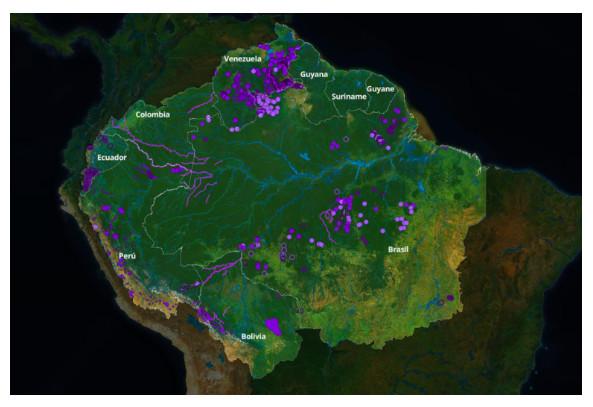 불법광산 [출처: https://www.amazoniasocioambiental.org]